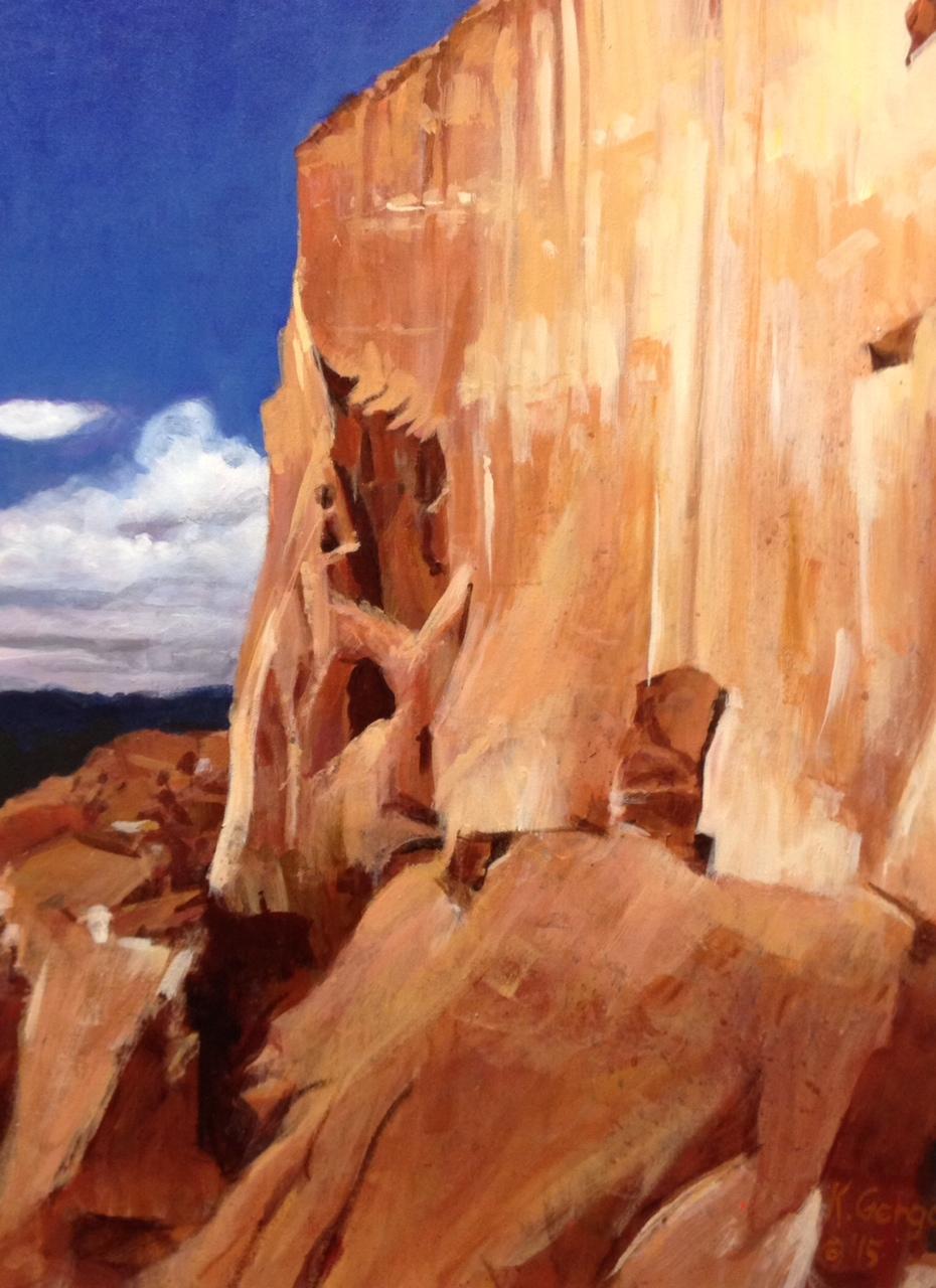 "Canyon Wall, 18 x 24"""