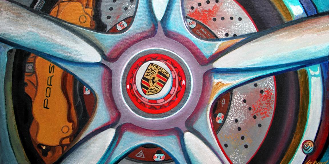 "Porsche Wheel, 12 x 24"""