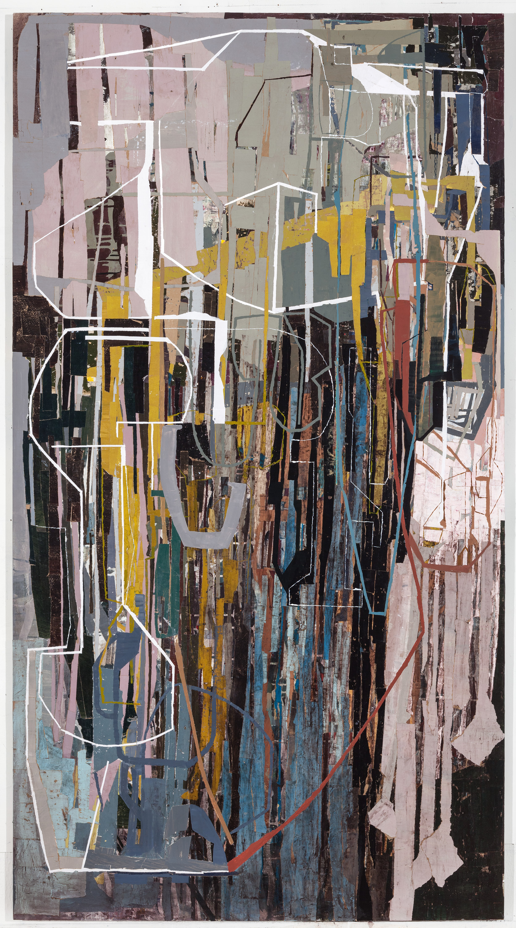 """I thought I knew then, you think you know now, mixed media, 46 x 84"""""""