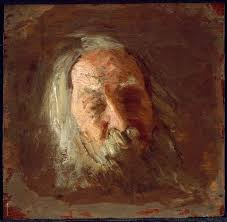 oil sketch of Walt Whitman by Thomas Eakins