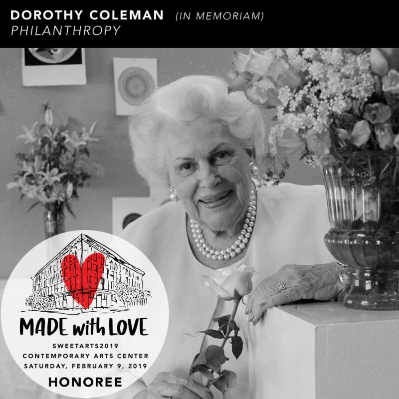 Dorothy J Coleman being honored: SweetArts2019 @ CAC