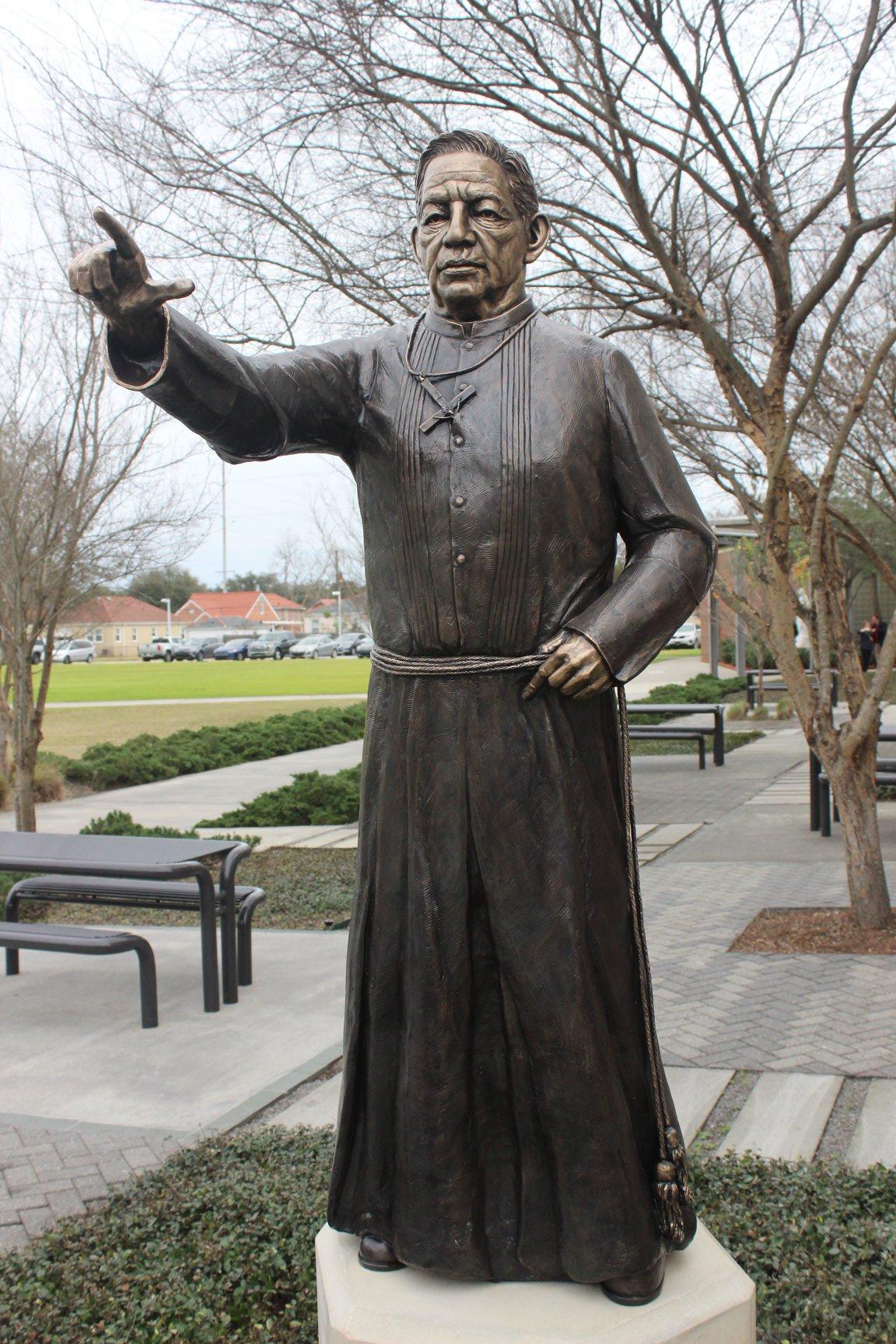 Kim's sculpture of Brother Martin