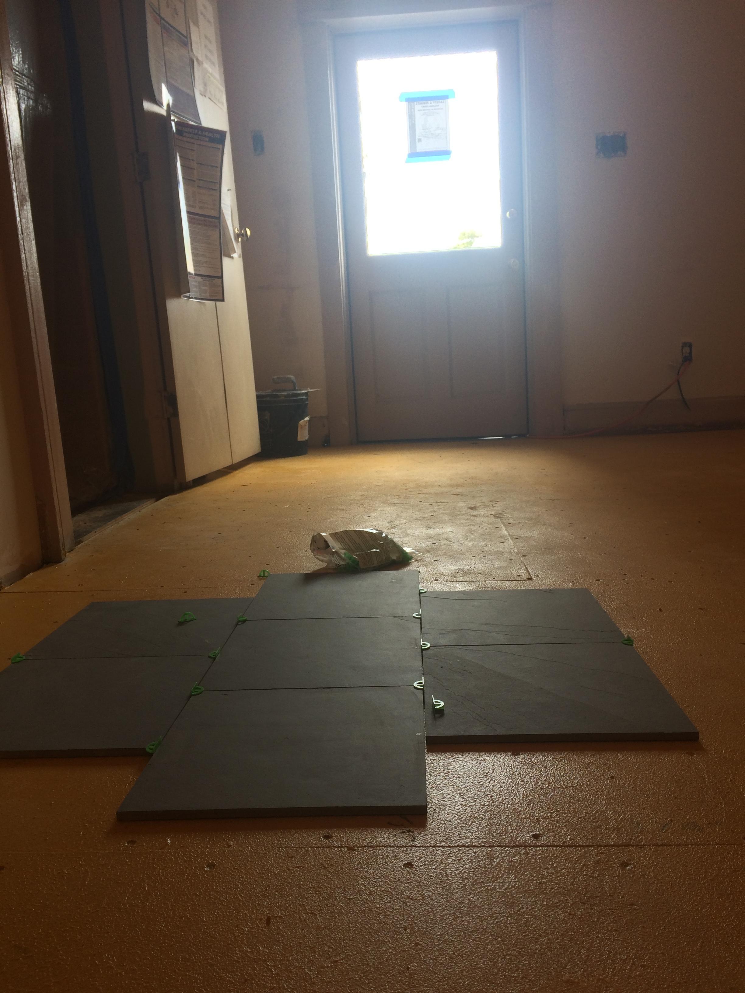 new kitchen tiles arrived!