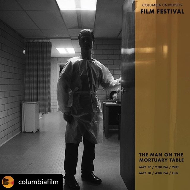 "Posted @withrepost • @columbiafilm ""While preparing a shot inside of the morgue's refrigeration chamber, I learned a mistake was made and I was standing next to two actual corpses in the dark. "" - Director, Co-Writer Omar Kakar on the making of ""The Man on the Mortuary Table""  A lonely embalmer discovers a renewed sense of life when he finds his doppelgänger on his mortuary table. ⠀⠀ Pictured: Director, Co-Writer Omar Kakar Co-Writer David Mar Stefansson Producer Arlene Fernandez, (Also produced by Jennifer Kaiser, Stephanie Falkies) ⠀⠀ THE MAN ON THE MORTUARY TABLE will premiere as part of Program C at the 2019 Columbia Film Festival (CUFF) at Walter Reade Theatre and encore at Lenfest Center for the Arts in New York City. Link in bio.  #CUFF2019 #filmfestival #filmmaker #cinema #ColumbiaUniversity #CUFilm #film #art #design #architecture #photography #morgue #ohmsarchitects #nyc #expression"