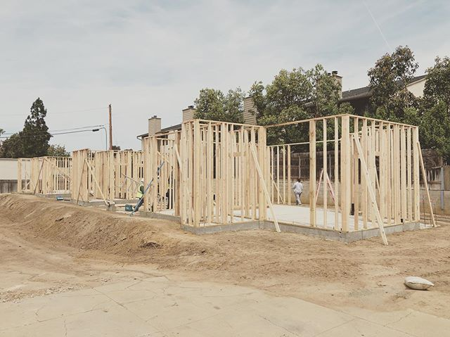 Framing is on. . . . #architecture #design #sandiego #experimental #building #customhouse #construction #art #photography #woodburyuniversity #wood #woodworking #carlsbad #residential #experience #california