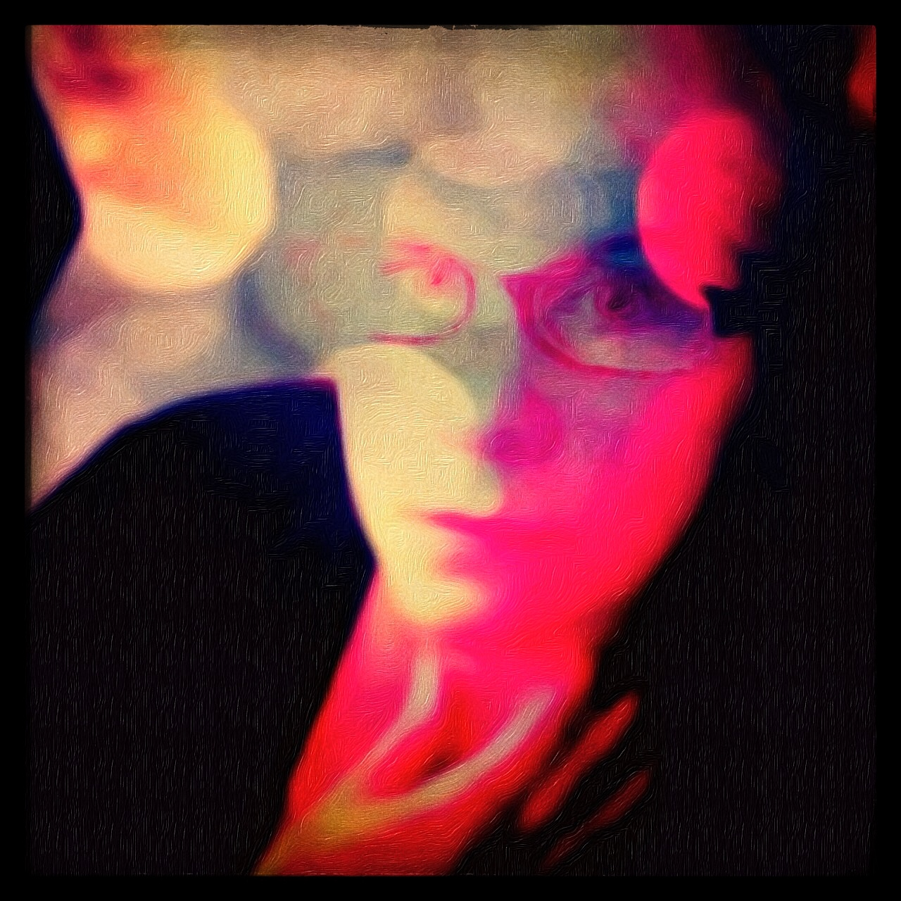 In the Dark by Kirsten Malinee. Edited with Pixlrexpress, Mextures, Brushstroke, ShockMyPic, and Snapseed.