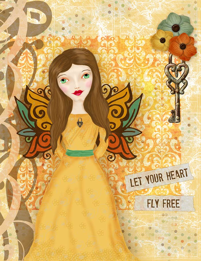 Fly Free by Kirsten Malinee