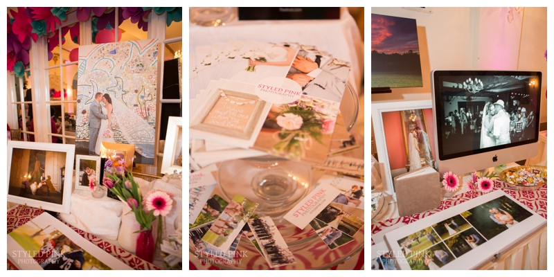 Here are some of the details- canvases, prints, my new business cards, and albums- all ingredients of a successful bridal show.