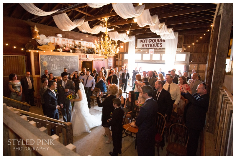 Such the perfect setting for a heartfelt ceremony at Jack's Barn, in Oxford, NJ.