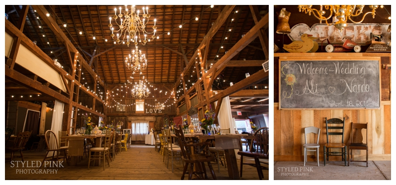Perfection in a reception room- at Jack's Barn, in Oxford, NJ.