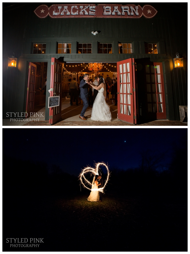 The perfect way to end the perfect day! Happy Wedding Day to Ali and Nando! Wedding at Jack's Barn in Oxford, NJ.