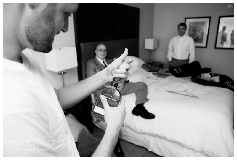 Paul and his guys start off their Getting Ready- it's fun hanging with the groomsmen!
