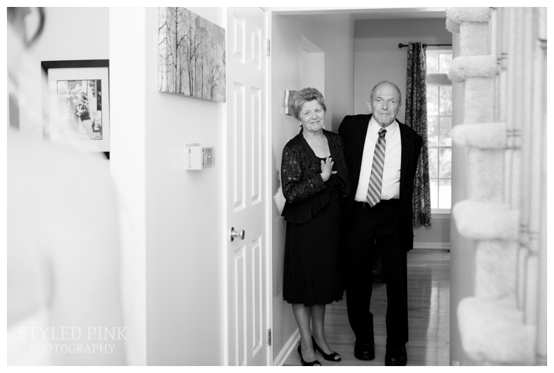 Katie did a First Look with her parents- goosebumps!