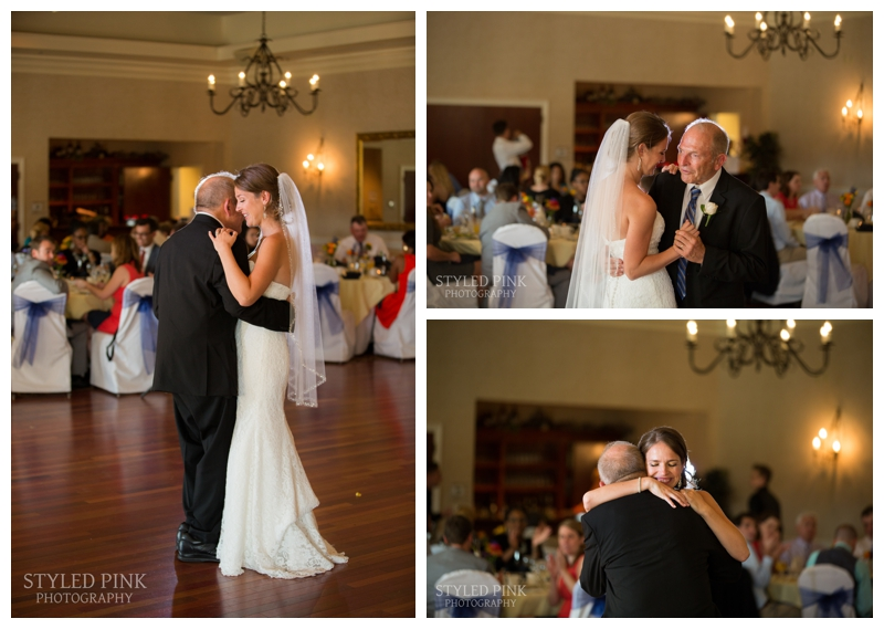 Katie and her father share a special parent dance.