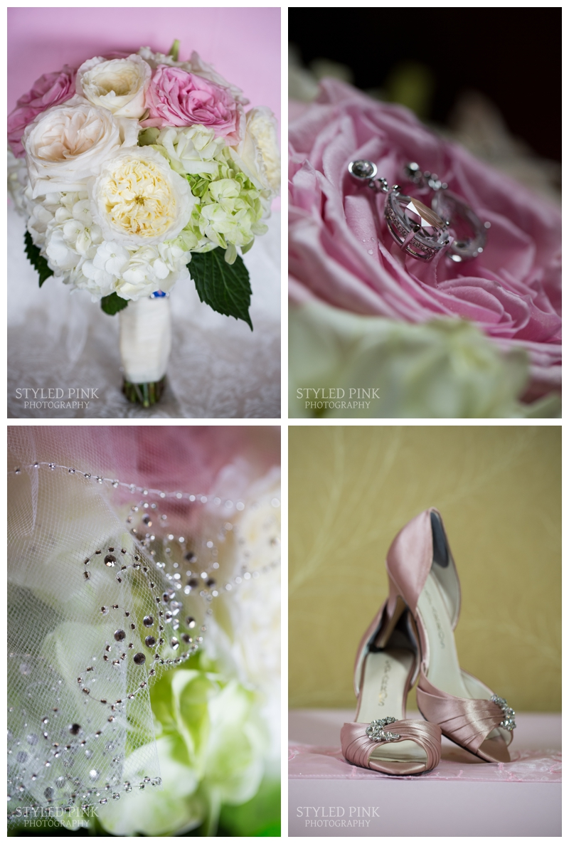 Petal Pushers put Caitlin's florals to life- completing her light pink and mojito green color scheme.