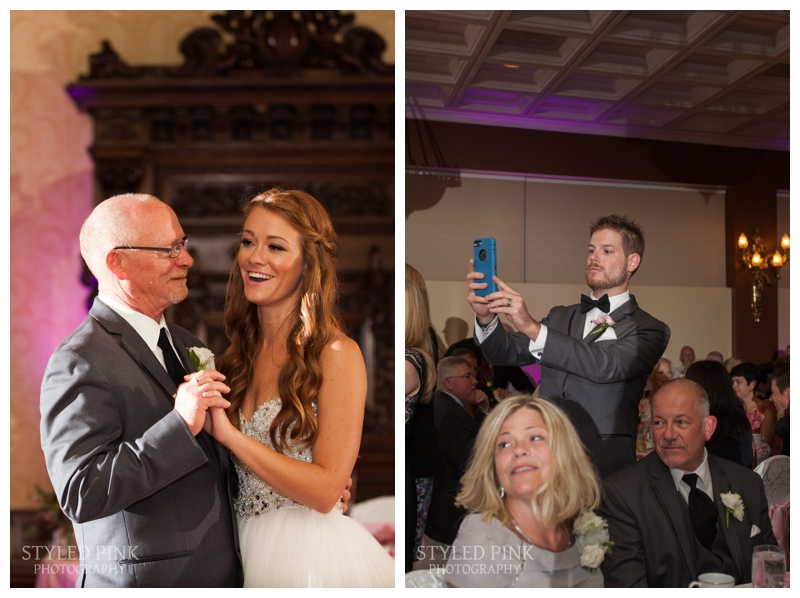 Even the groom couldn't resist snagging a shot of Caitlin and her dad!