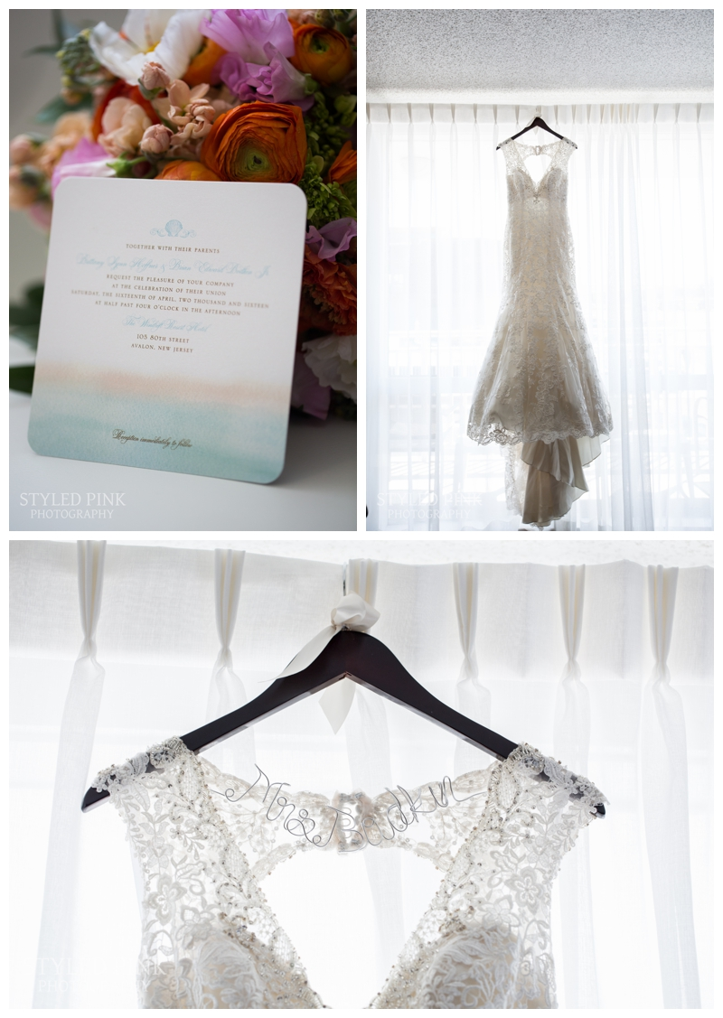 When we hung the dress, everyone just stared at it- so gorgeous from Allure Bridals.