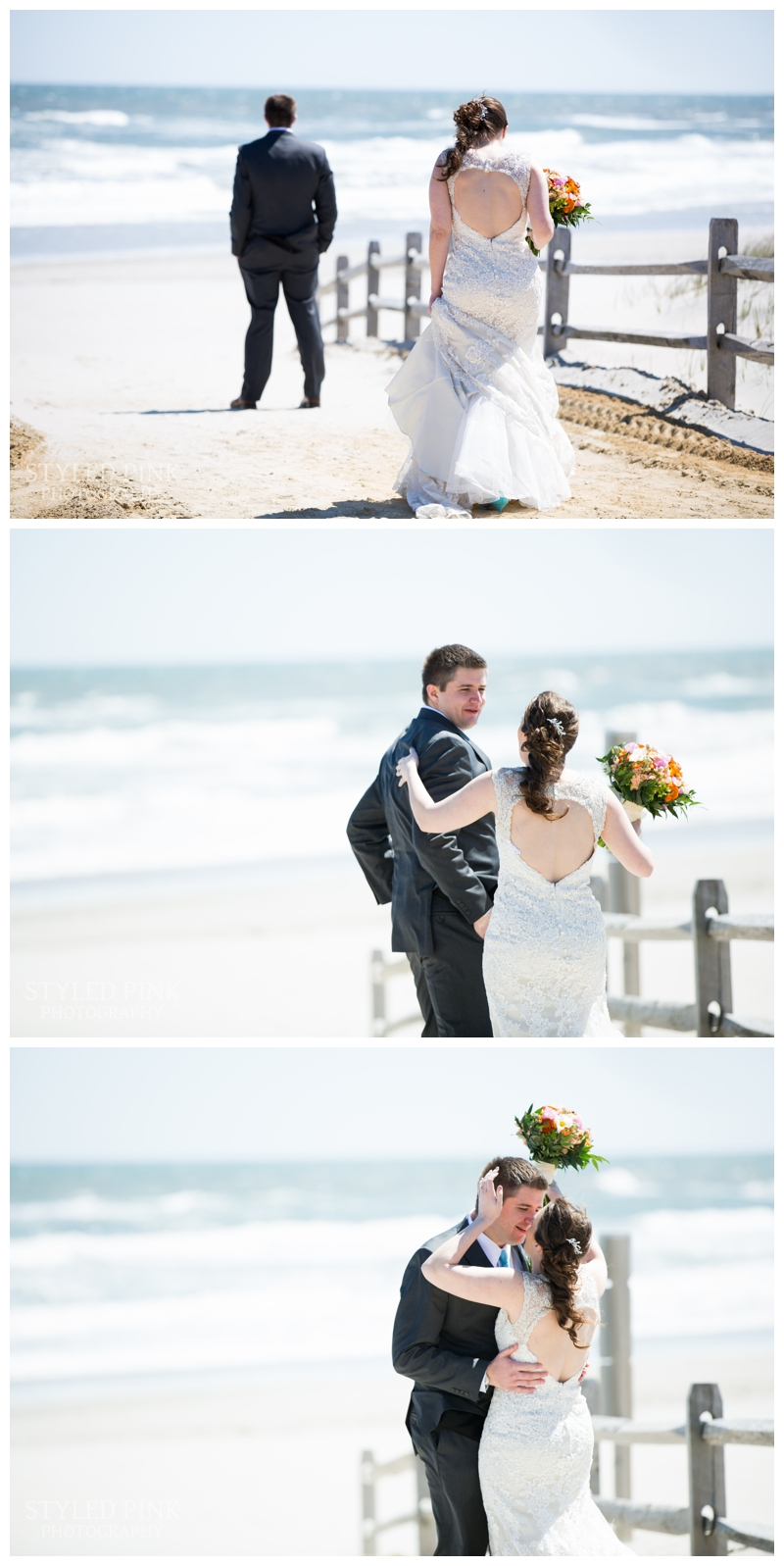 Brittany and Brian had a First Look just steps away from their venue, the Windrift Hotel in Avalon, NJ.