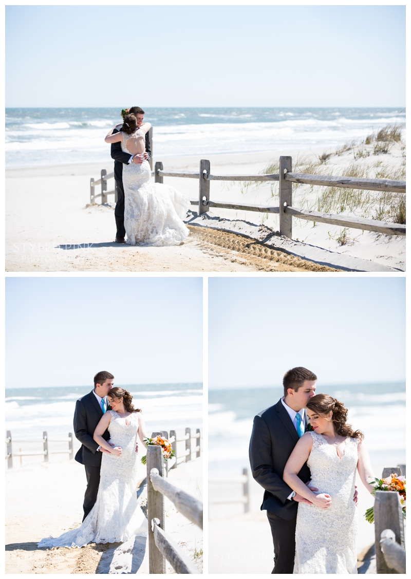 We grabbed some formal bride and groom photos on the beach in Avalon, NJ.