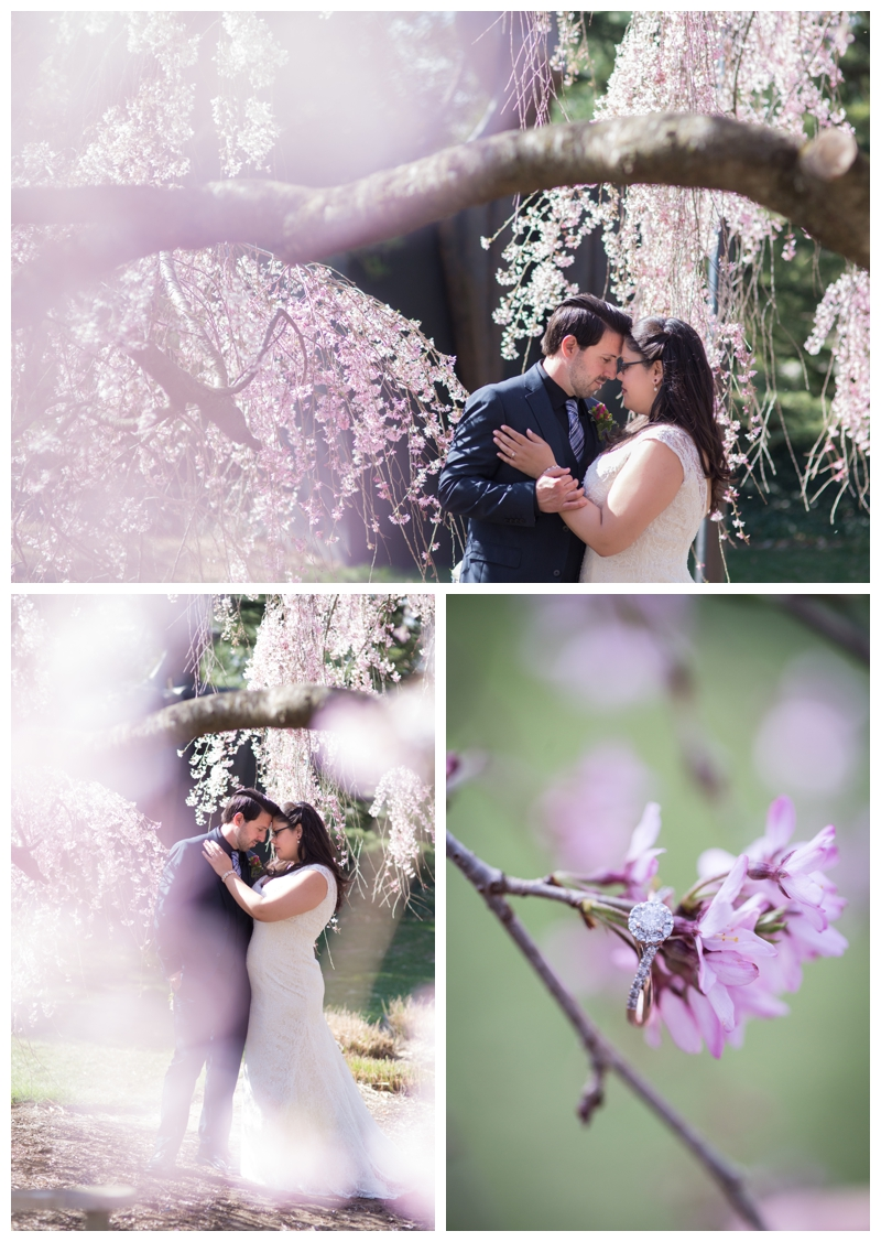 Like any photographer, I shrieked when I saw a gorgeous cherry blossom- and that engagement ring... great job, Joe!