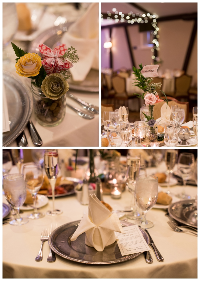 Twinkle lights, gorgeous floral centerpieces, just perfect.