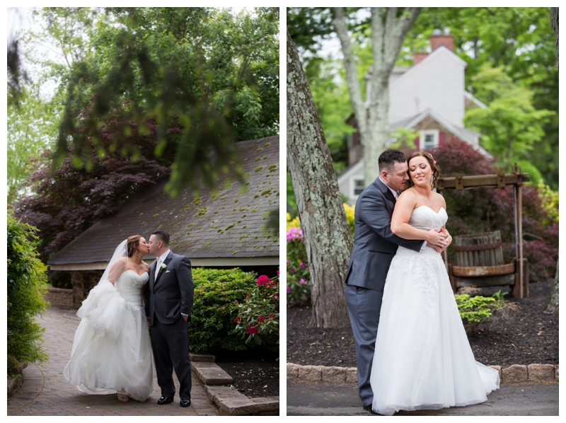 The rain stopped and we were able to get some bride and groom photos outside at Rose Bank Winery.