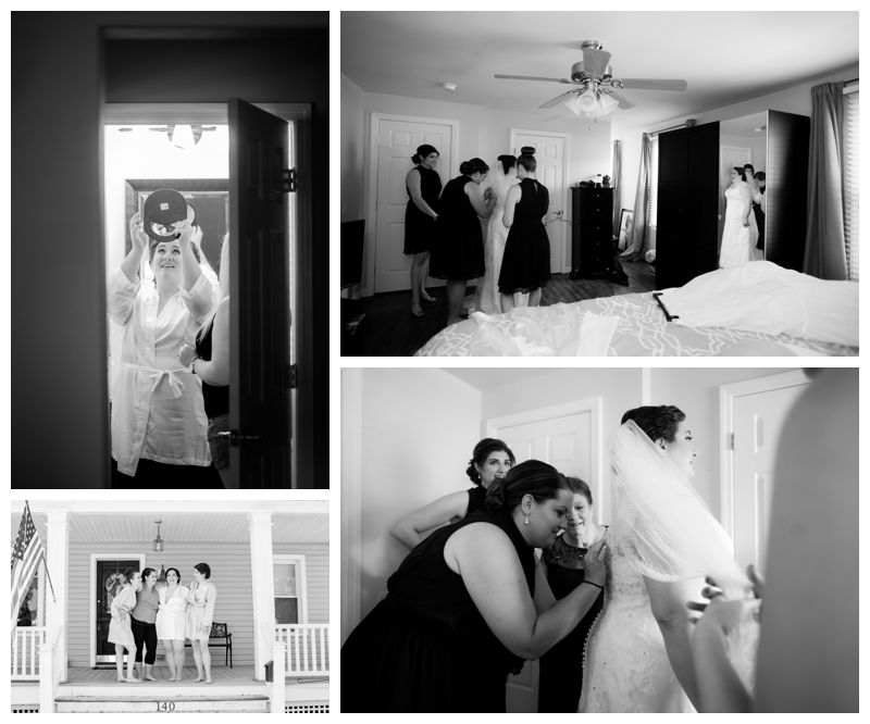 "While Carla stepping into her gown- everyone started singing ""Going to the Chapel."" It was such an amazing moment to be a part of!"