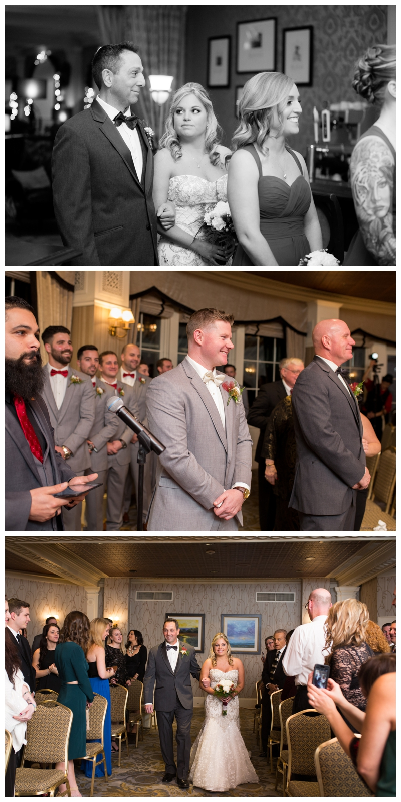 Rob and Kelsey's ceremony took place in the Oval Room at the Stockton Seaview Hotel in Galloway, NJ.