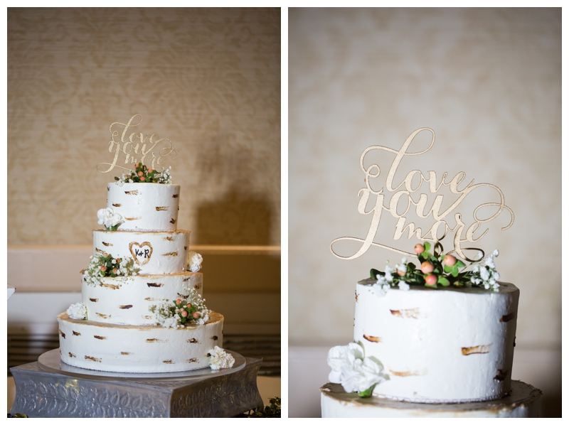 "I love this wood-carved cake complete with a ""love you more"" cake topper."