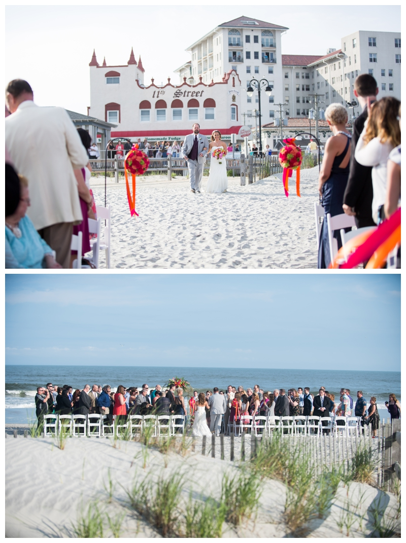 It's so neat that you can see The Flanders Hotel from the ceremony on the beach.