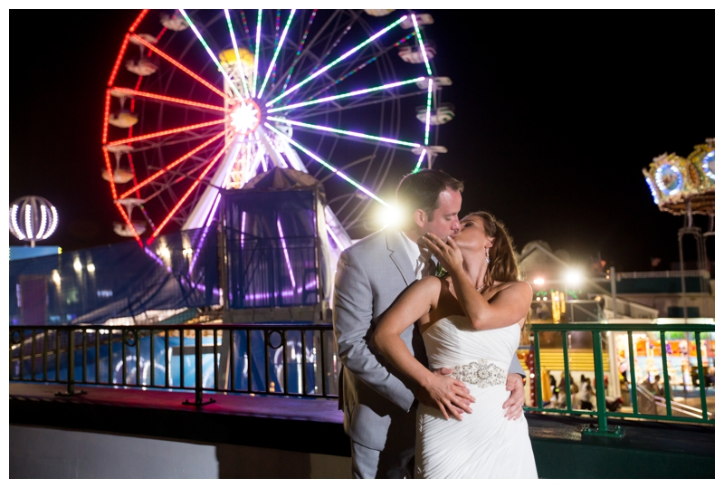 The ferris wheel on the Ocean City Boardwalk is so colorful and makes for a stunning night shot!