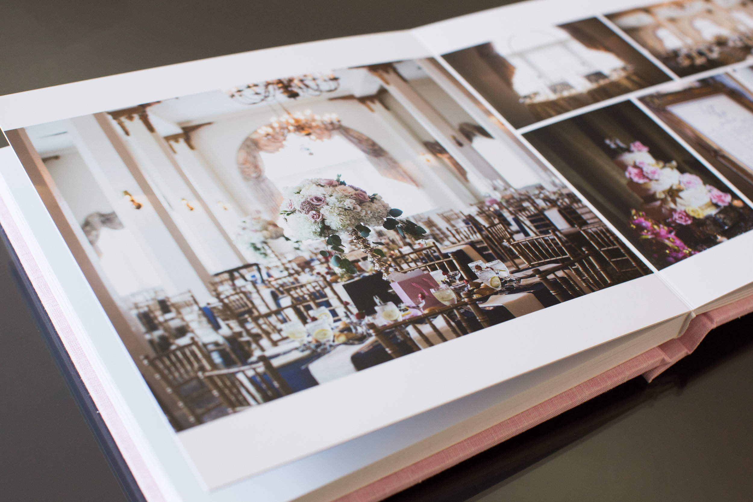 I made this wedding album for The Flanders Hotel, so naturally I had to include their gorgeous ballroom.