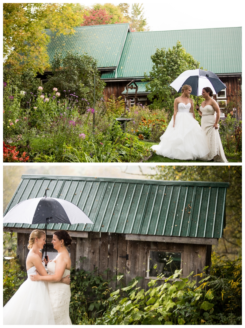 And then the rain! But no worries for these brides, we just kept on shooting.