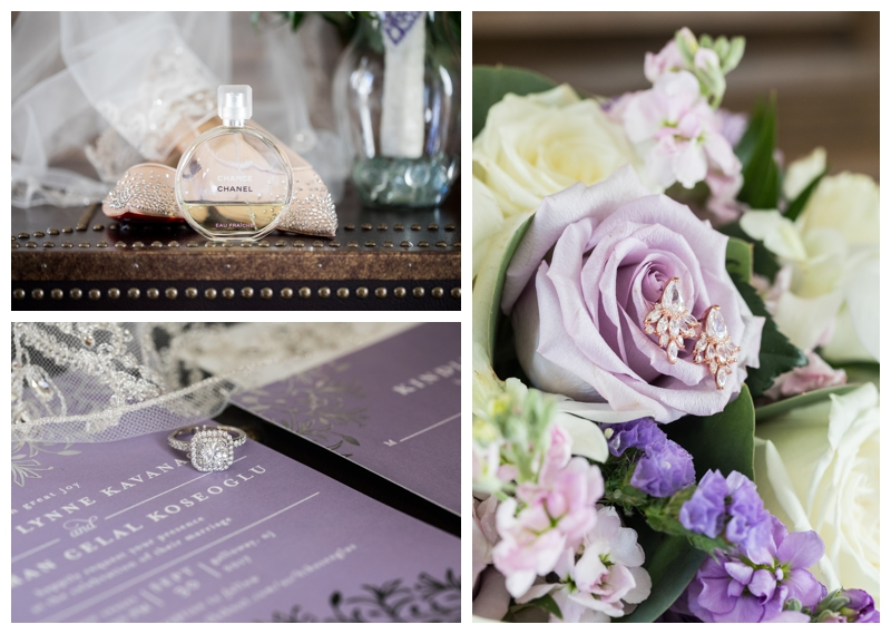 Meredith's bridal bouquet from South Jersey Florist was stunning- those purples!