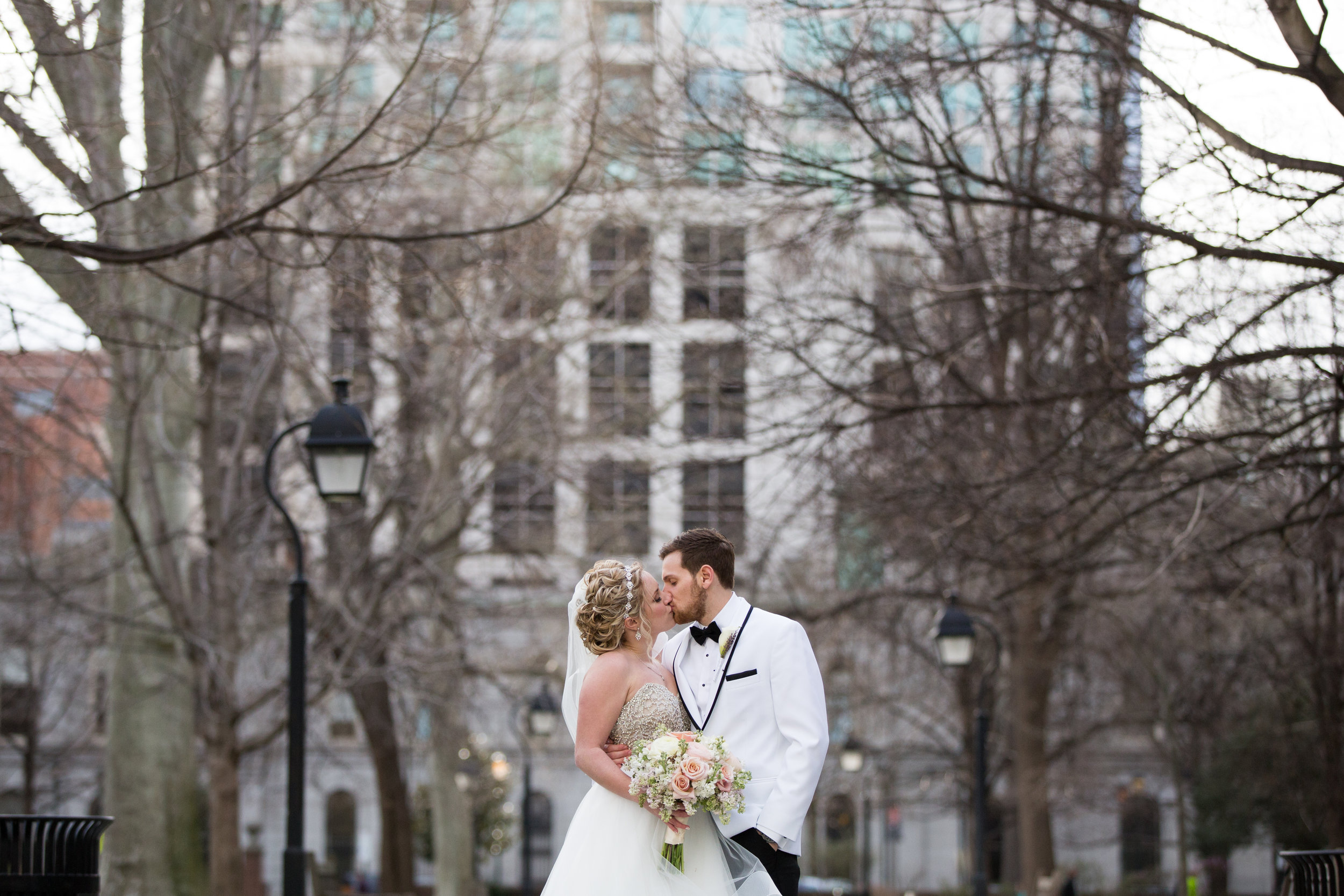Deana and Zane are MARRIED and loving every minute of it in Washington Square Park in Philadelphia.