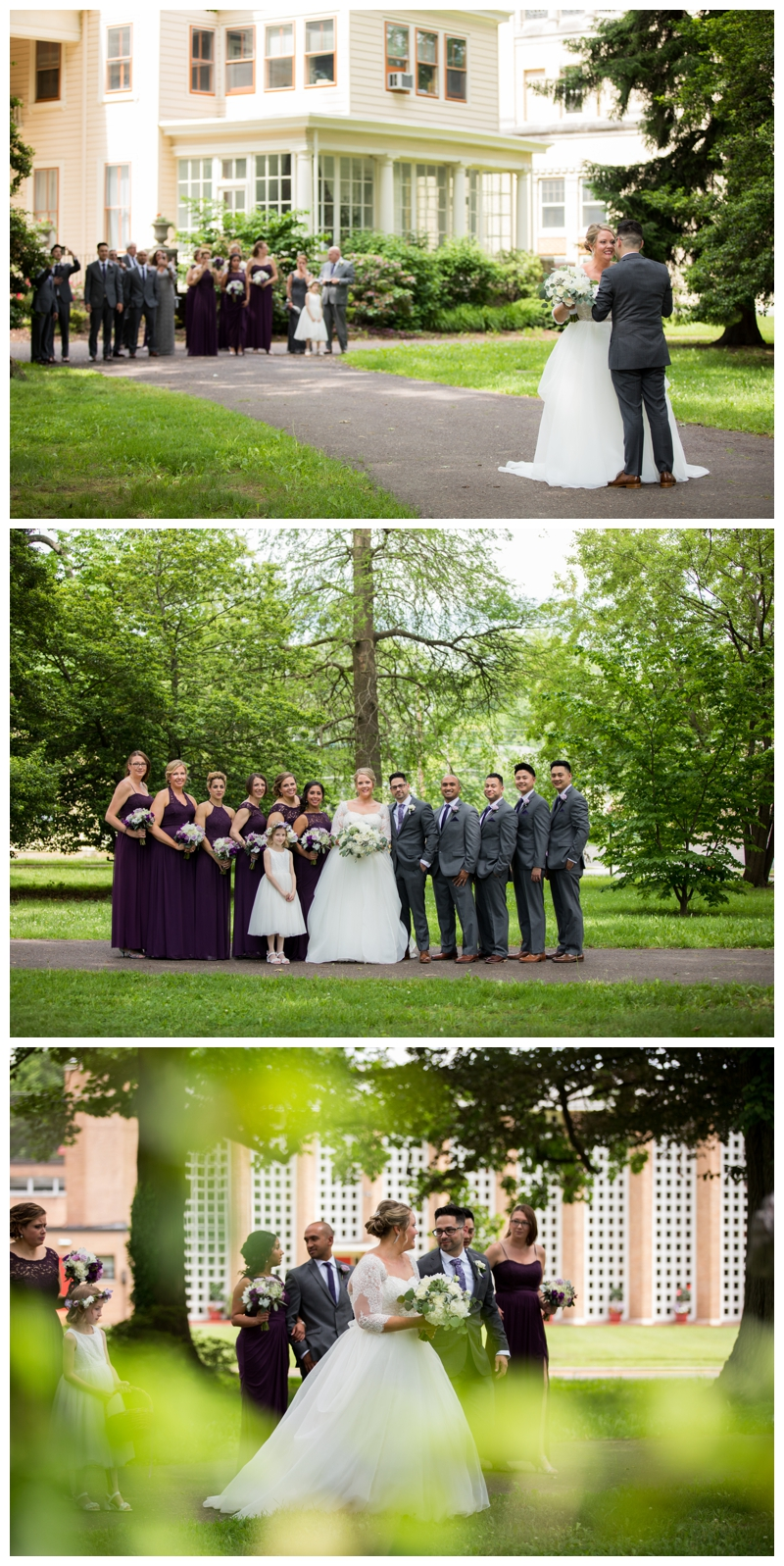 I love that Meg and Eric invited their bridal party and family to witness their first look- their reactions were sooo worth capturing!