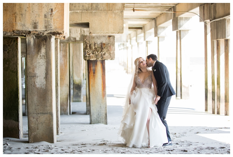 The Pier provided a secluded spot for bride and groom portraits at One Atlantic.