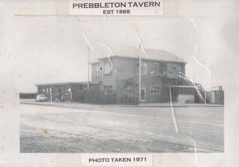 Prebbleton Tavern 1971, photo from the NZ Fire service.