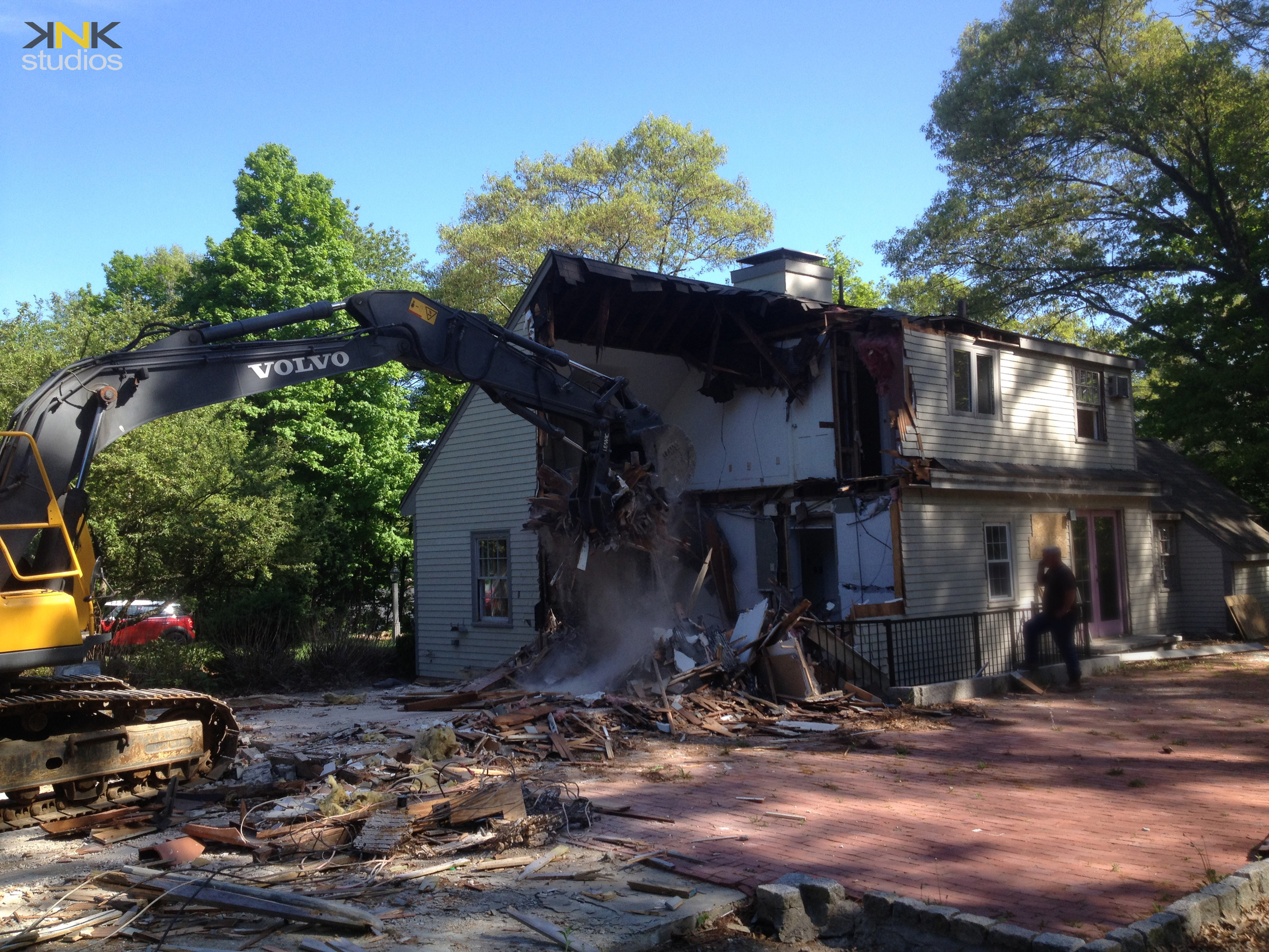 Demolition of the old existing house