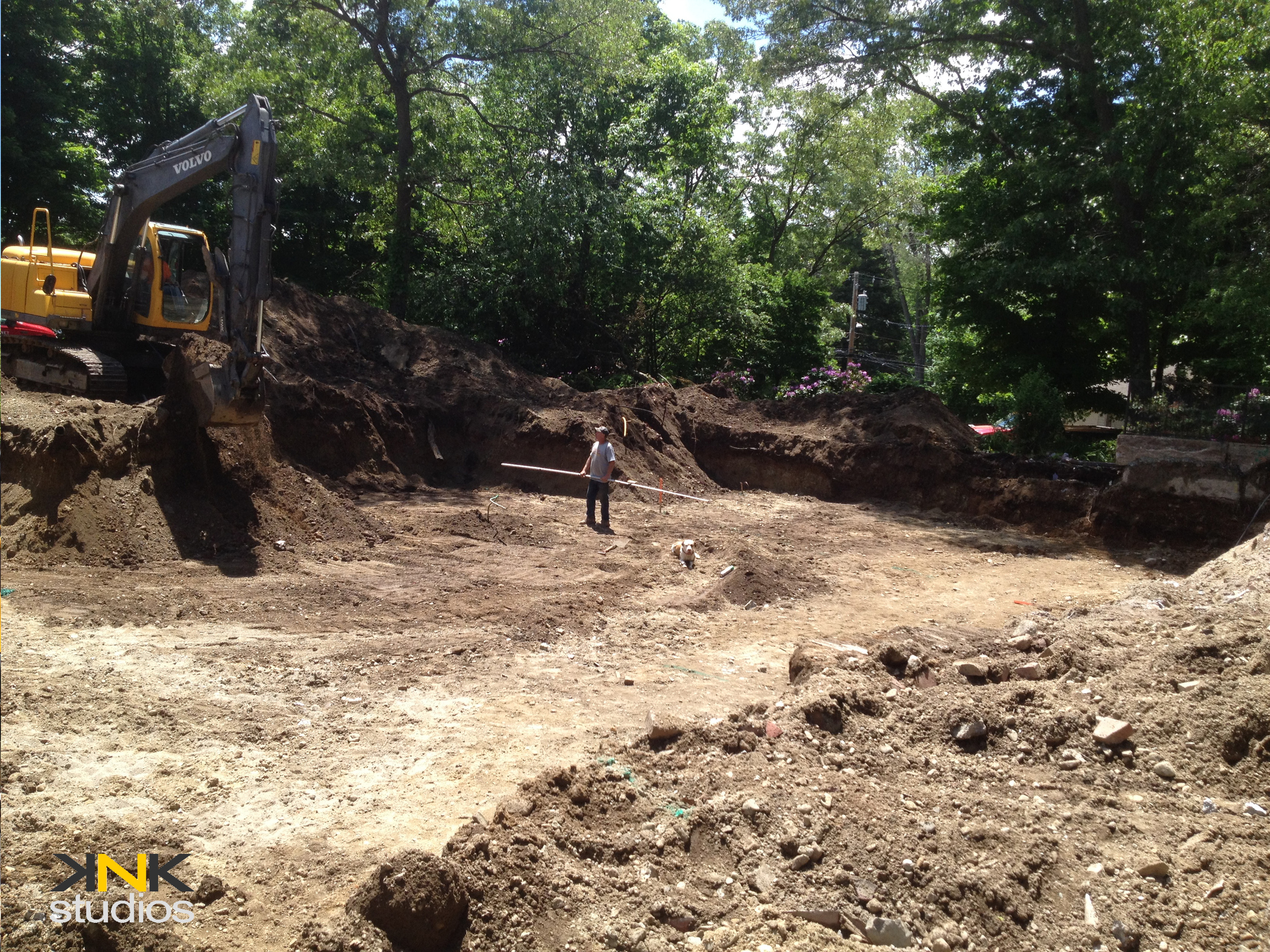 Excavation and foundation layout