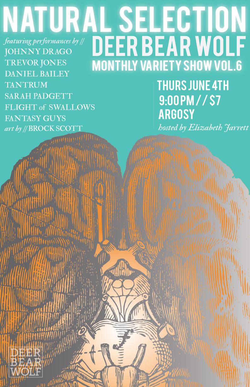 Natural Selection, the Deer Bear Wolf Variety Show, makes its East Atlanta Village debut at Argosy this Thursday, June 4.
