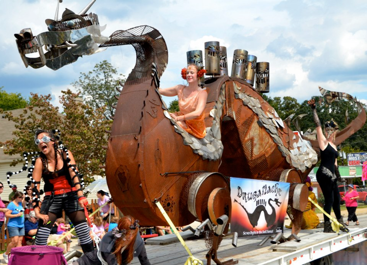 The 18th annual East Atlanta Strut is this Saturday in the East Atlanta Village, featuring murals, art exhibitions,live local music, adult game area featuring contests of strength, stamina and beard growth, artists market, the famous Strut parade, and more.