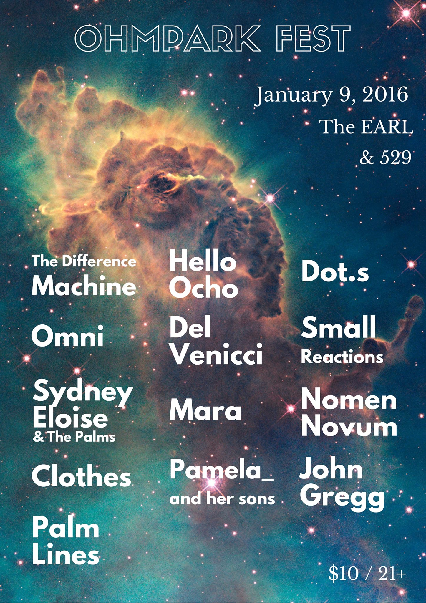 Ohmpark Fest returns this Saturday night at the EARL and 529.