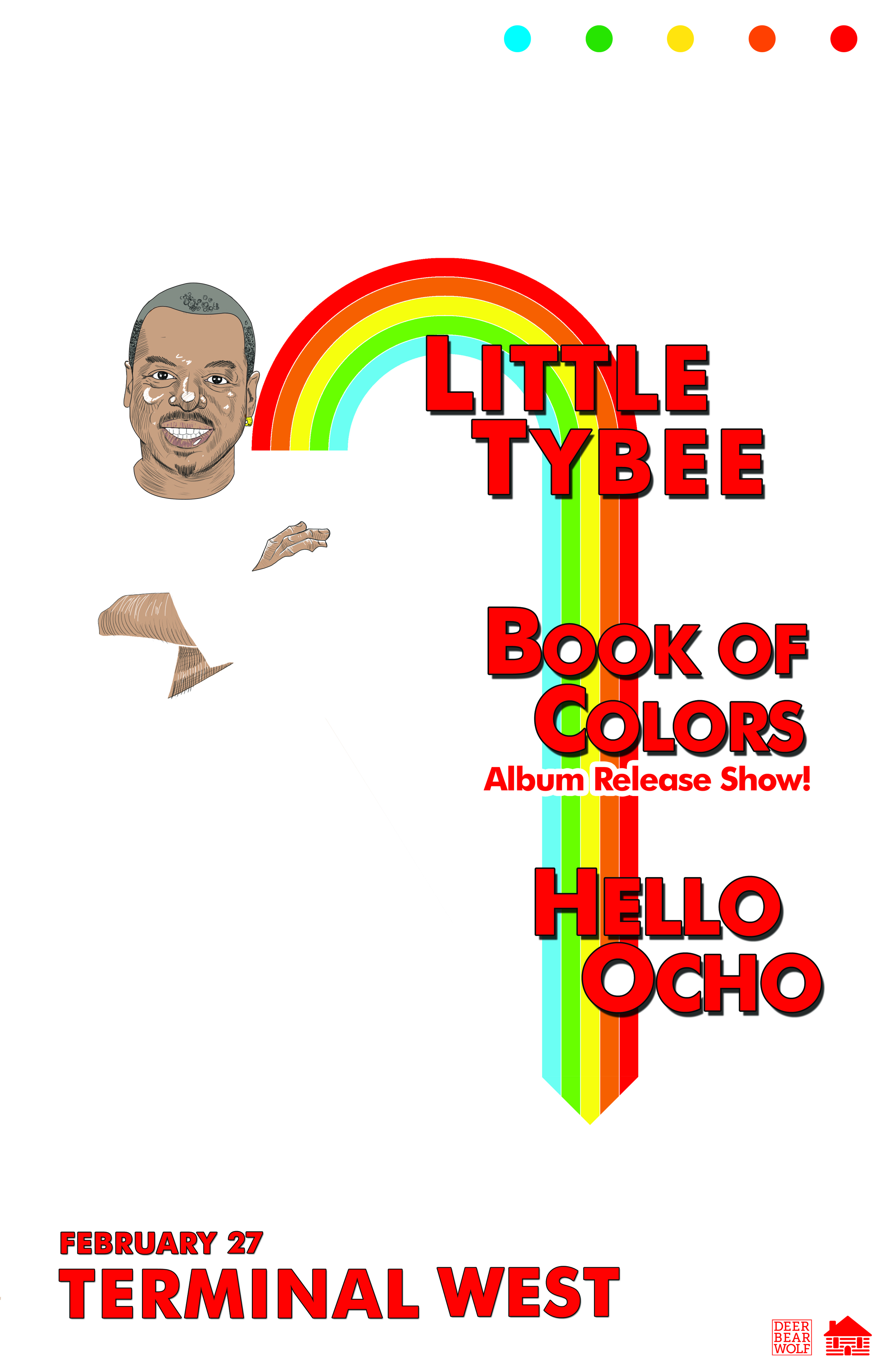 Little Tybee, Book of Colors, and Hello Ocho play Terminal West this Saturday night.