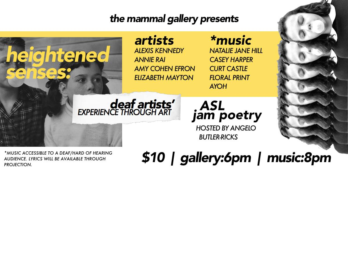 The Mammal Gallery presents a music and art show for the deaf and hearing impaired.