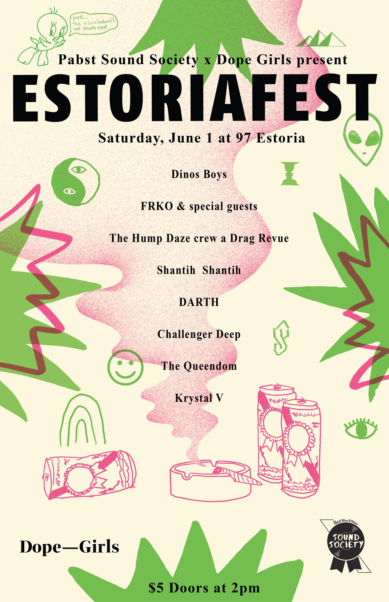 Estoriafest is back this weekend, this time with Dope Girls