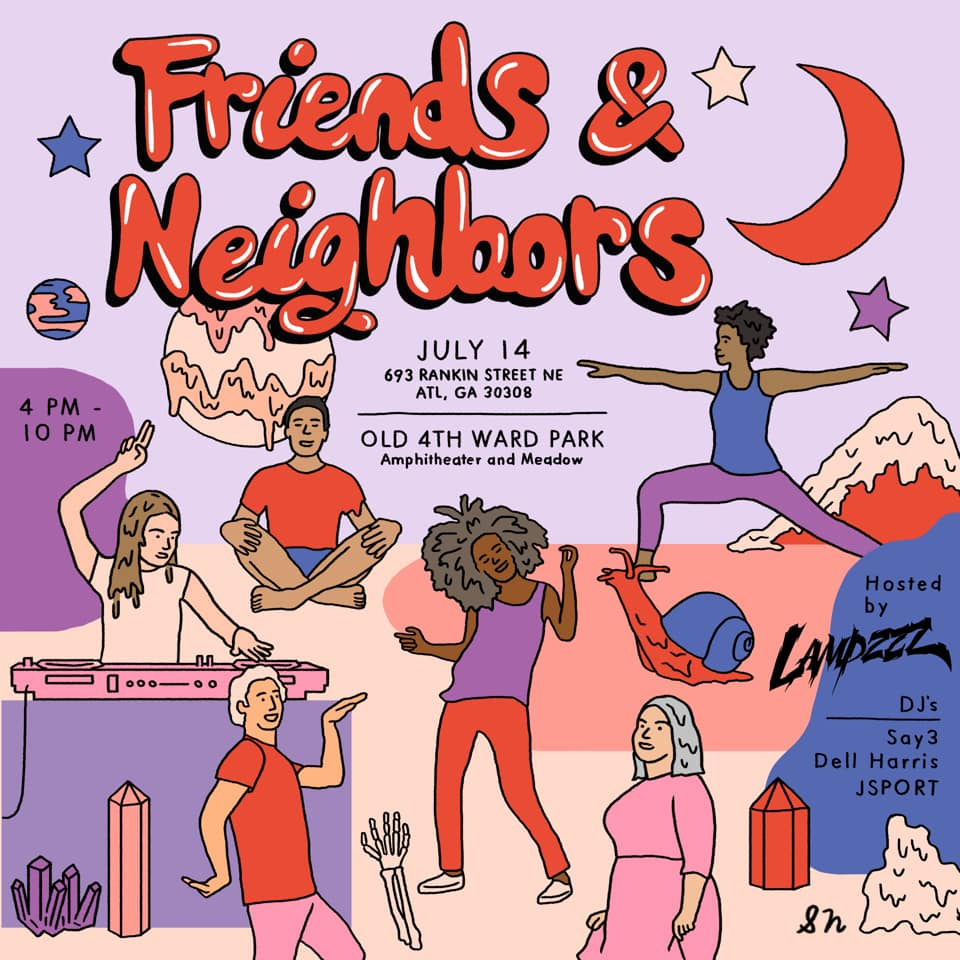 Friends and Neighbors Festival this Sunday in collaboration with Art On The Atlanta Beltline