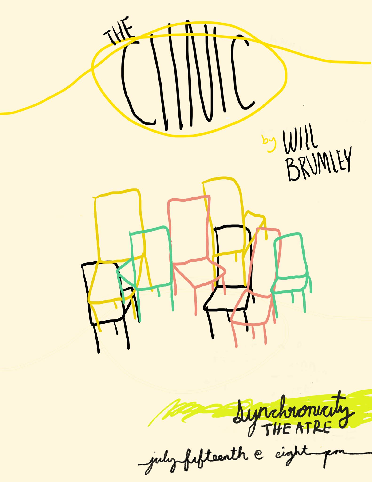 On Monday, A staged reading of The Clinic raises money for ActBlue at Synchronicity.