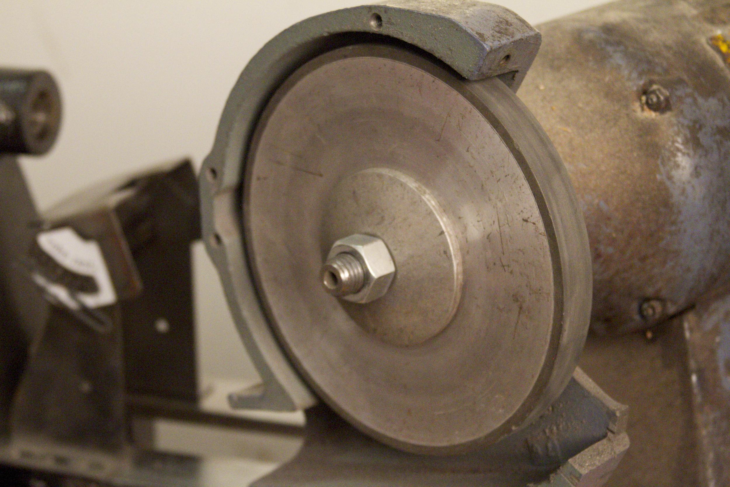 NW Super Abrasive with standard flange on Baldor