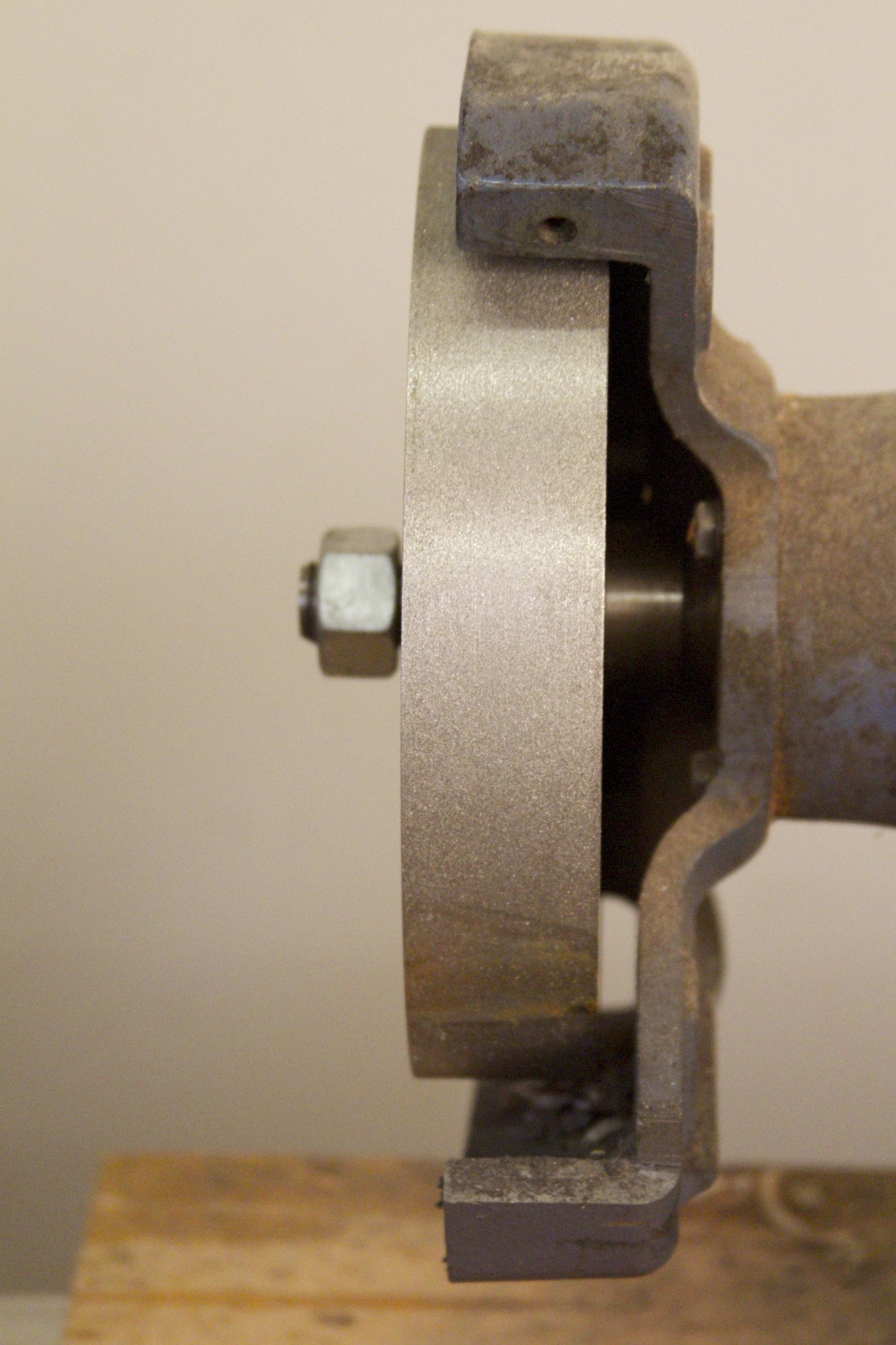 1 1/2 inch wide wheel on Baldor grinder with inside spacer